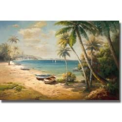 Roberto Lombardi 'Paradise Bay' Canvas Art | Overstock™ Shopping - Top Rated Canvas