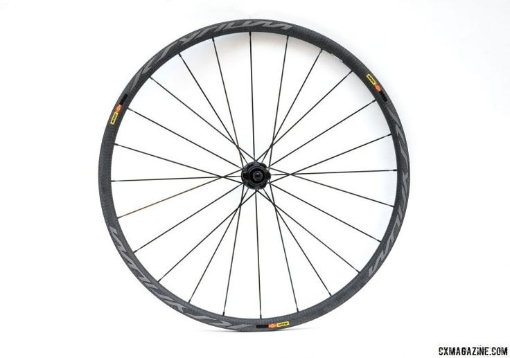 Mavic Ksyrium Pro SL T Disc tubular wheelset is one of the lighter disc brake carbon tubular options. © Cyclocross Magazine