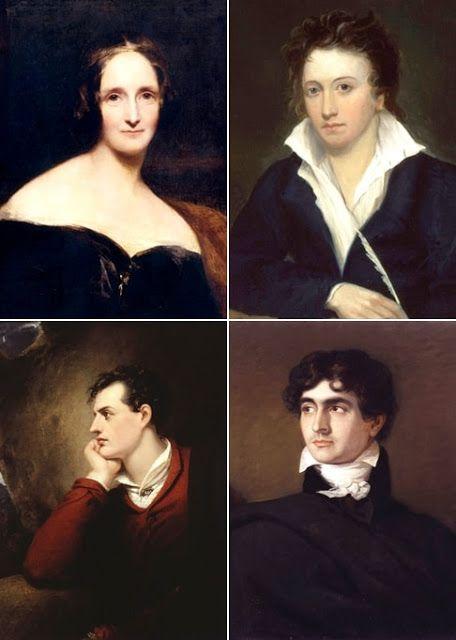 Mary e Percy Shelley, Byron, Polidori a Villa Diodati , Ginevra