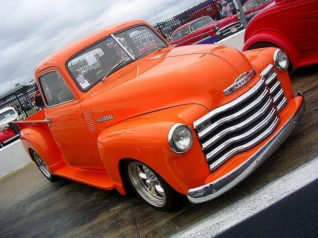 1953 Orange Chevy Pickup