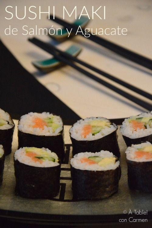 Sushi Maki de Salmón y Aguacate