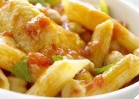 Recept voor Pasta met kip | Solo Open Kitchen - pasta, chicken an tomatoes