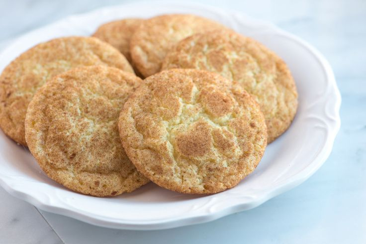 Easy snickerdoodles recipe with crispy edges and soft and chewy centers.