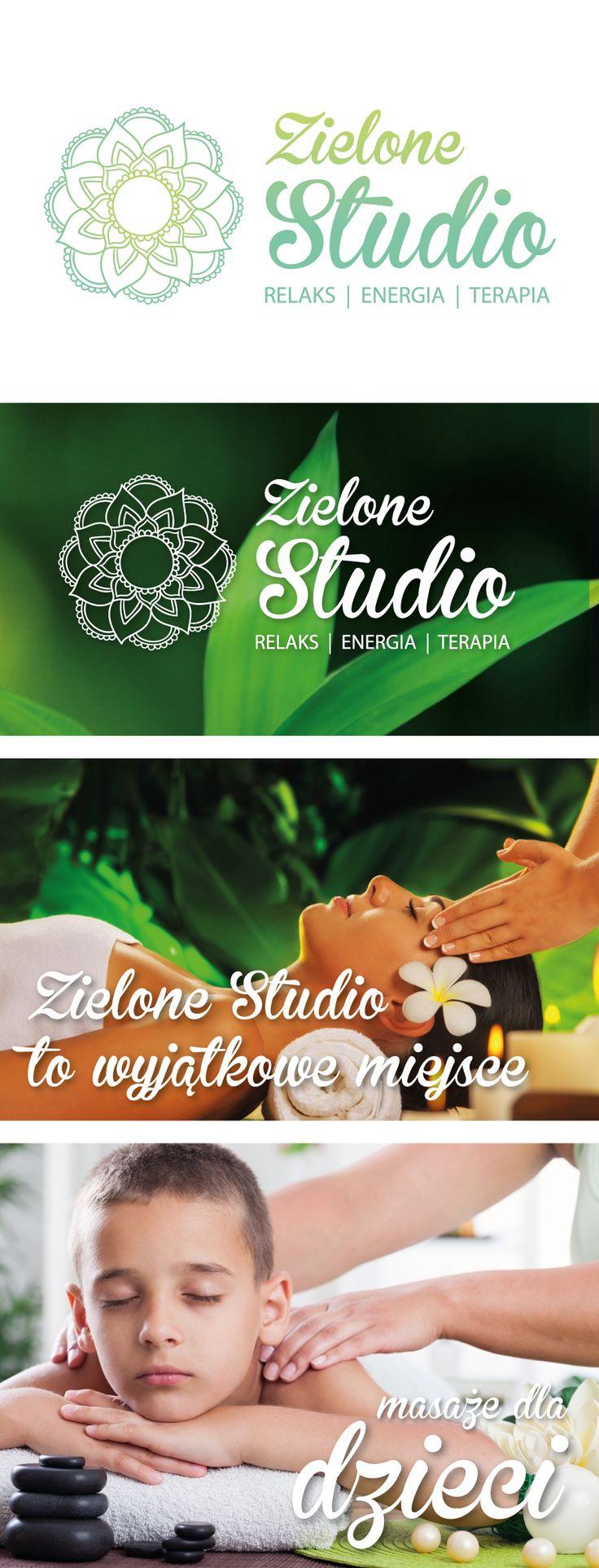 Logo i identyfikacja wizualna dla Zielonego Studia - studio masażu i relaksu