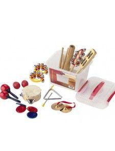 Ensemble de 14 petites percussions et instruments pour l'éveil musical et rythmique des enfants de maternelle et primaire
