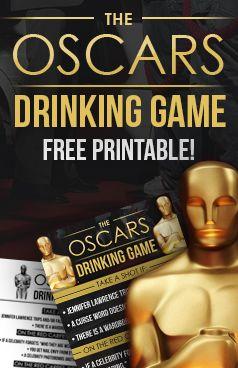 2015 Oscars Drinking Game: Lights, Camera, Drink! - free printable