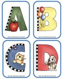 Adorable ABC cards for Go Fish!