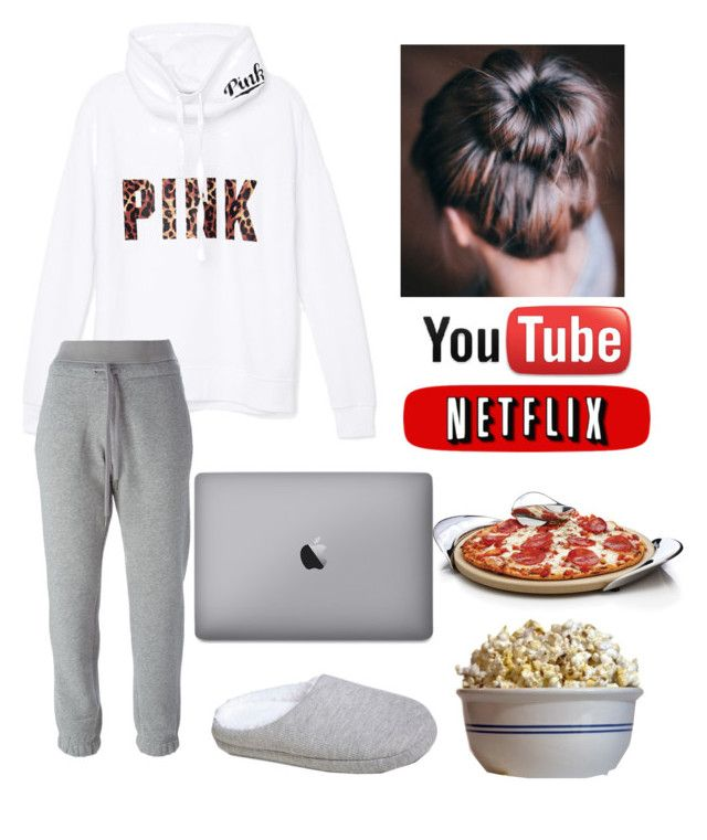 """Movie night with self "" by jasminehekekire on Polyvore featuring Victoria's Secret PINK, adidas, Gilligan & O'Malley, Waring and Nambé"