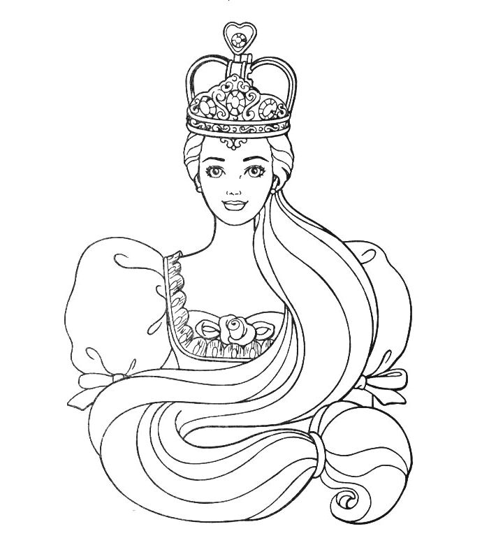 Princess Barbie Coloring Pages Printable Sheet To Print