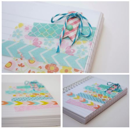 Prettying up school supply with washi tape || Monika Wright