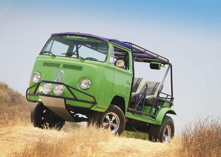VW Bay Window Bus -> Dune Buggy  This is so badass!