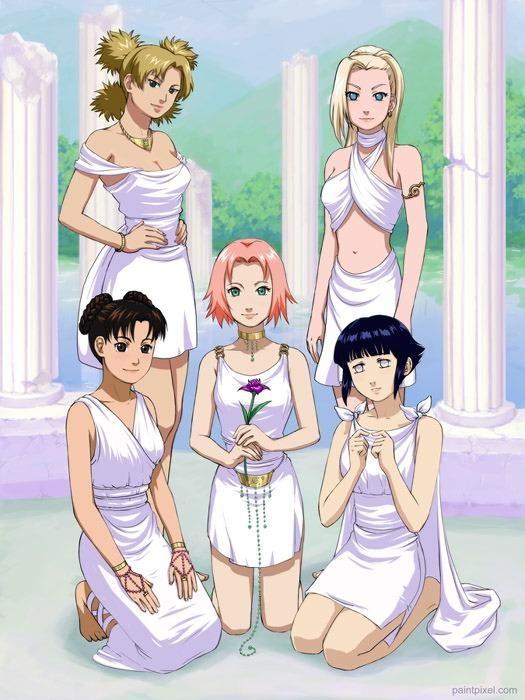 Temari Ino Ten Ten Sakura & Hinata