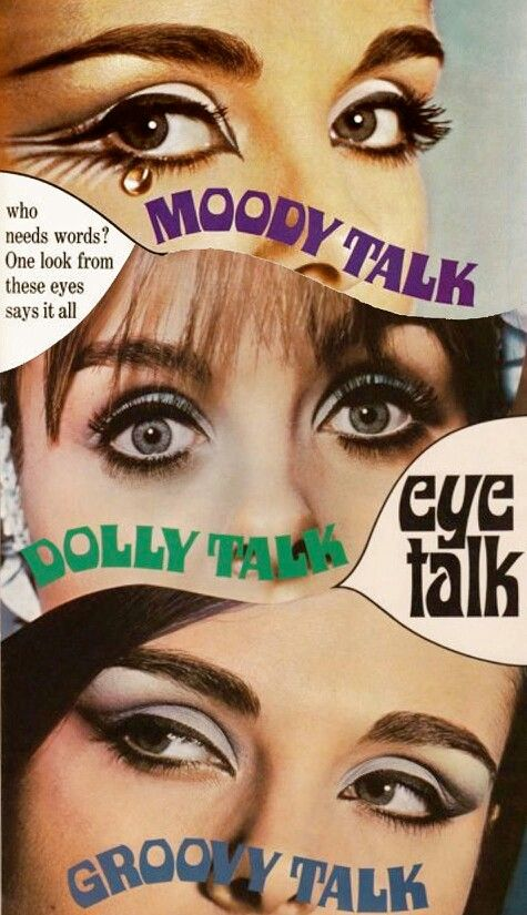 Retro eye makeup