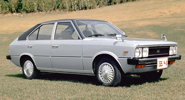 Hyundai Pony z 1975 roku.