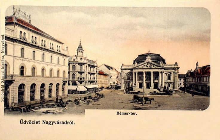 Bemer square, left the Pannonia Hotel .1904