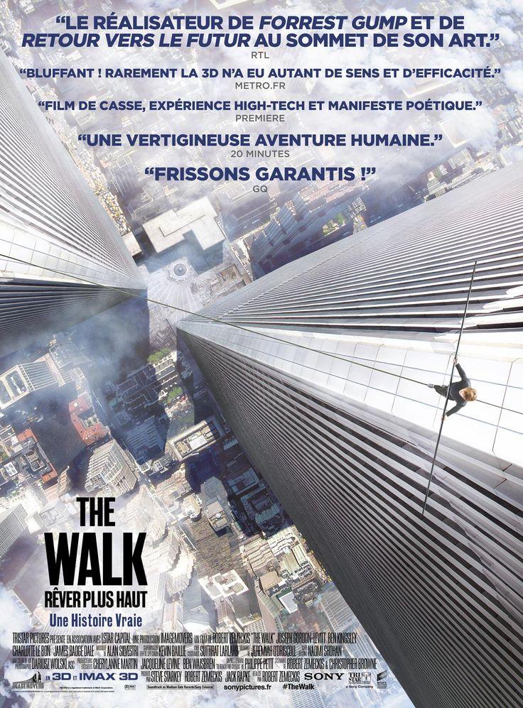 The Walk – Rêver Plus Haut est un film de Robert Zemeckis avec Joseph Gordon-Levitt, Ben Kingsley. Synopsis : Biopic sur le funambule français Philippe Petit, célèbre pour avoir joint en 1974 les deux tours du World Trade Center sur un fil, suspendu au-dessus