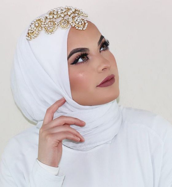 How To Wear Hijab - Hijab Style For A Wedding Bride
