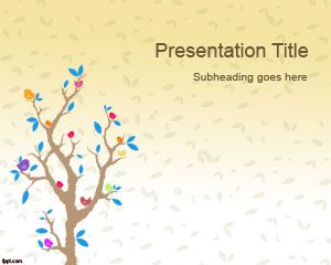 Cartoon Tree PowerPoint Template