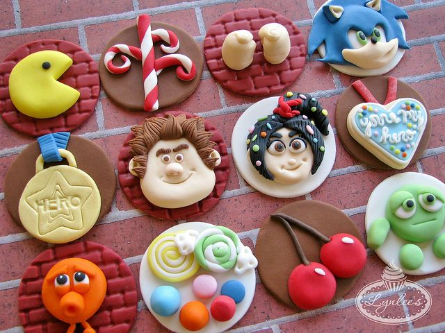 Wreck-It Ralph Cupcake Toppers by Lynlee's Petite Cakes, via Flickr