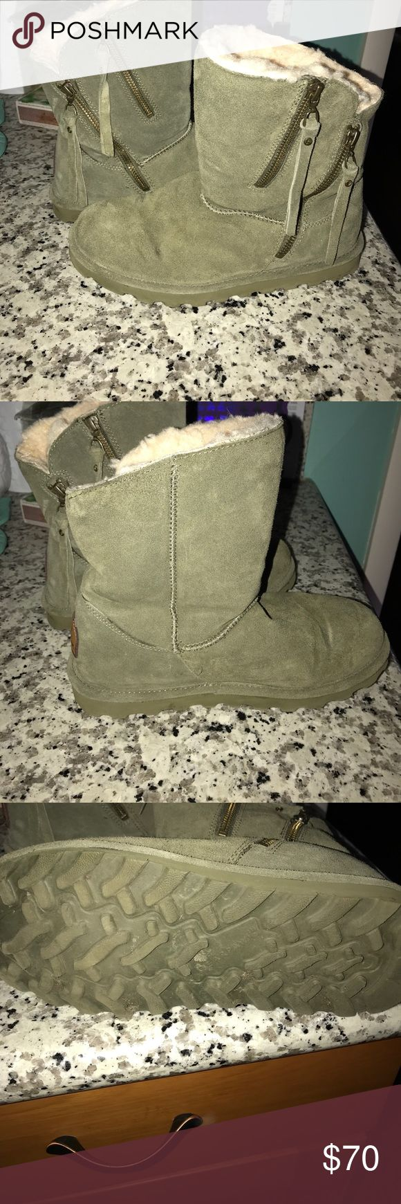 Bear Paw Mimi Zipper Boots Only worn once. Basically brand new. These boots were treated with the Never Wet treatment. Purchased last winter for $90. Pricing based on the condition of the Boots. BearPaw Shoes Winter & Rain Boots