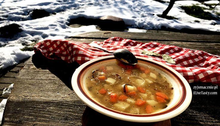 Zupa grochowa z połówek, przepis