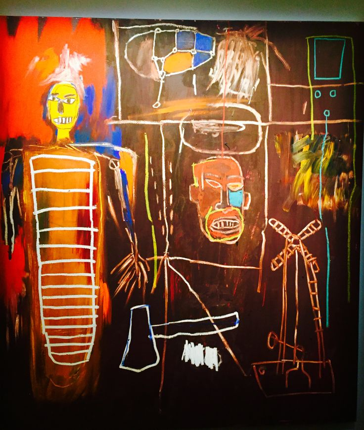 Jean-Michel Basquiat - Air Power.  Owned by David Bowie. On display at Sotheby's London prior to sale (sold yesterday for a cool £7.1 million).