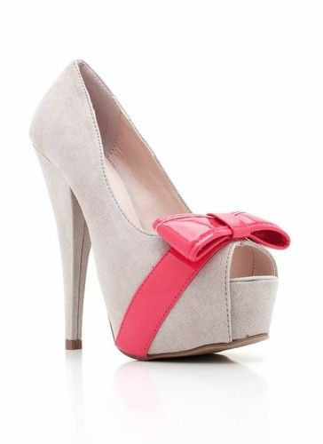 +Fashion Places, Fashion Shoes, Bows Heels, Peep To, Pink Bows, Su Bows, Girls Fashion, High Heels, Girls Shoes