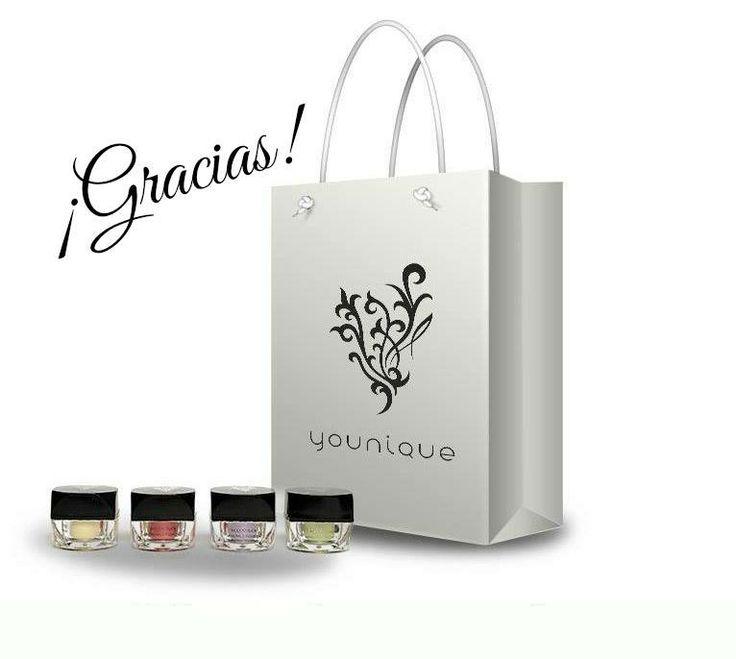 Gracias por comprar sobre Younique maquillaje natural de minerales desnudos www.youniqueproducts.com/brightfuture