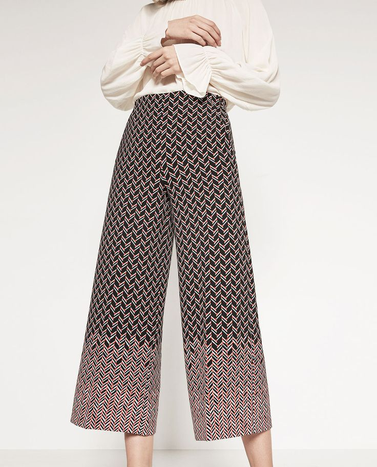 PRINTED CULOTTES-View All-TROUSERS-WOMAN   ZARA Germany