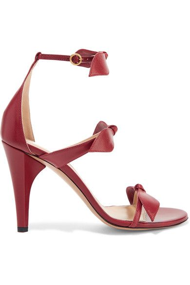 CHLOE Heel leather Buckle-fastening ankle strap Designer color: Rubis Red Made in Italy