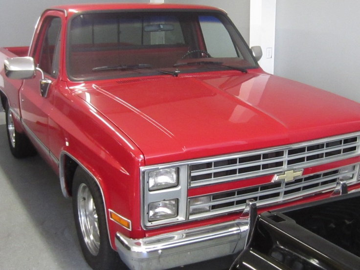 (4) my sixth pink check will go to restoring David's 1987 Chevy Silverado truck.  I think it will take $3000.