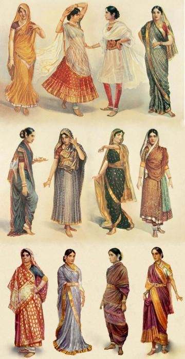индийское сари фото