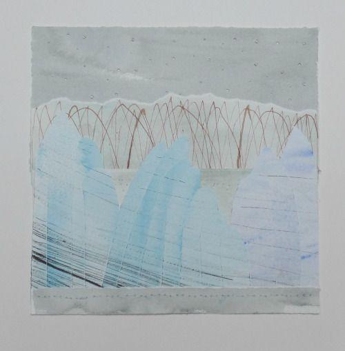 Joanna Caskie paper collage Ice