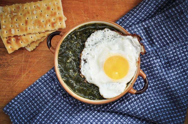 Piure de spanac cu orez Spinach puree with rice recipe vegetarian vegan egg