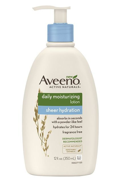 Aveeno Active Naturals Sheer Hydration lotion is a Team LC personal favorite. We love how this moisturizing body lotion is unscented and made with natural ingredients, too! Apply liberally to your whole body after a day spent lounging by the pool. #refinery29 http://www.refinery29.com/lauren-conrad/157#slide-4