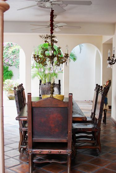 Decorating Ideas: Hacienda San Angel Villa Dining Table And Toscana Side  Chairs By Romani Designs