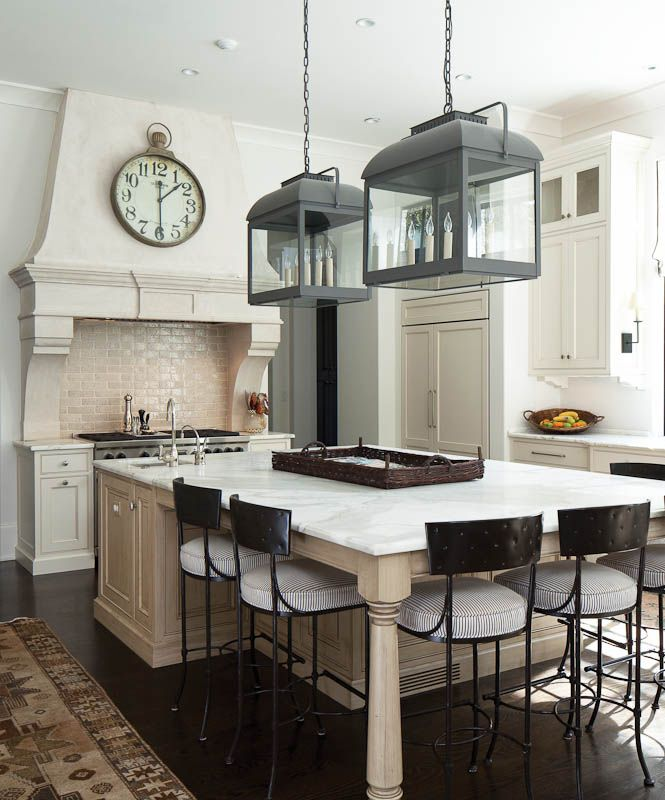 A European Classic Kitchen With A Painted Ivory Finish