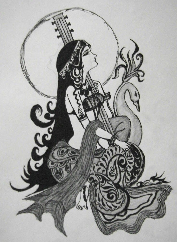 Hindu god goddess saraswati