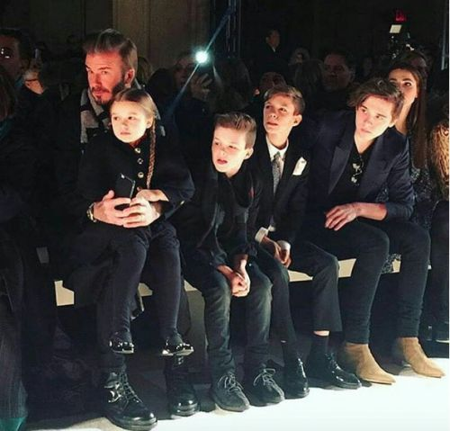 Yay or Nay ? The Beckham genes ! At Victoria Beckham's show at the New York Fashion Week