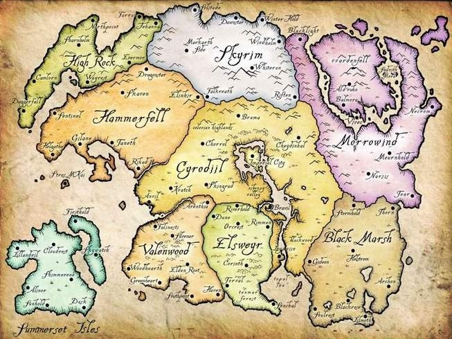 Elder Scrolls Full Map