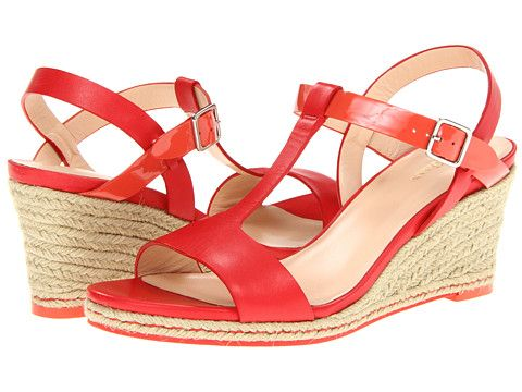 Cole Haan Elizabeth Wedge Cherry Tomato/Orange Pop Patent - Zappos.com Free  Shipping