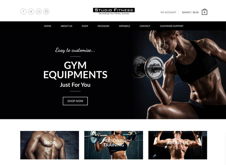 Studio Fitness Web Development. An eCommerce website where you can get your gym equipments online. #inpixelhaus #webdevelopment #webdesign  #responsivedesign