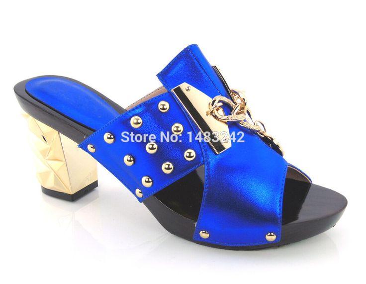 Artikel-nr. yh15-1784 blau erhältlich mode Italienische passende schuh-und taschensatz für party und hochzeit African damen heels pantoffel //Price: $US $71.25 & FREE Shipping //     #cocktailkleider