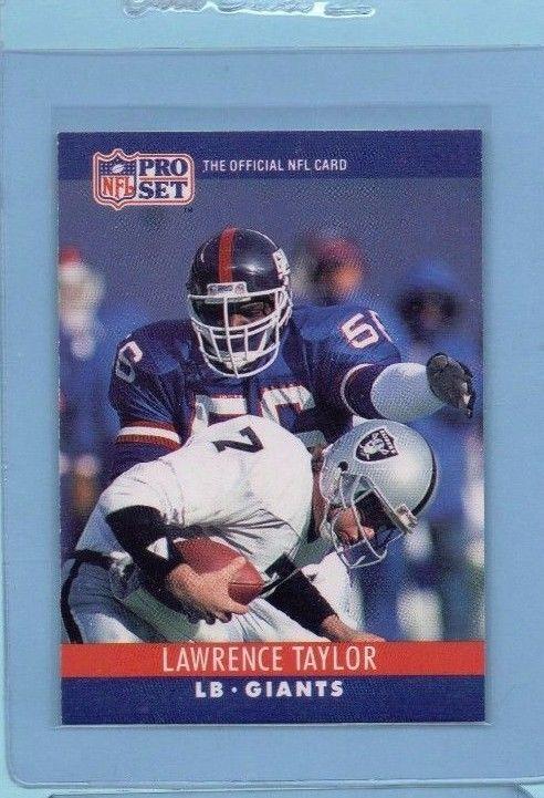 Lawrence Taylor 1990 Pro Set Football Card New York Giants Original HOF #NewYorkGiants