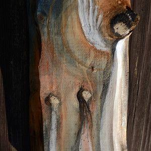 Anioł Rodzicielstwa - wyjatkowy prezent dla rodziców i całej rodziny  Angel painted on wood