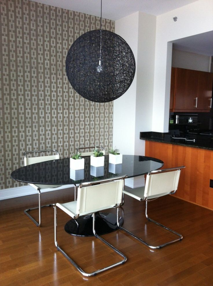 Designer Cindy Schlesinger of Interior Minded featured Chain Link 5160 White in a client's modern dining room.