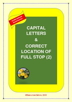 This resource includes ten sentences without capital letters and full stops. Students need to complete these sentences with capital letters and full stops in appropriate places. A great revision exercise, especially from NAPLAN point of view!Why wait?