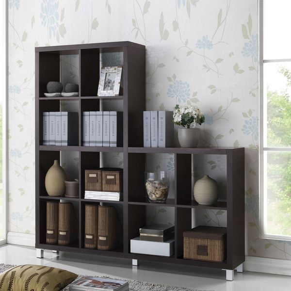 Baxton Studio Sunna Dark Brown Modern Cube Shelving Unit | Overstock.com Shopping - The Best Deals on Media/Bookshelves