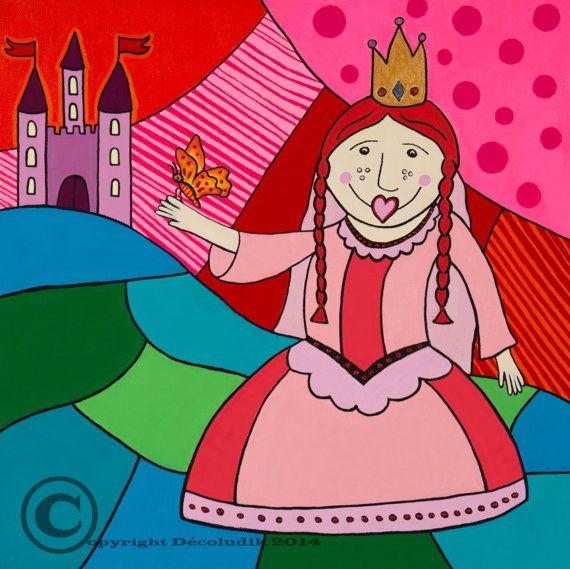 Toiles décorative de la princesse