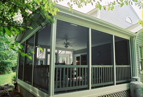 83 best images about screened in deck porch on pinterest for Balcony screening ideas